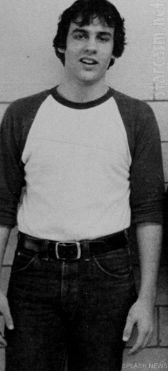 Photo of New Jersey Governor Chris Christie as a young man in high school