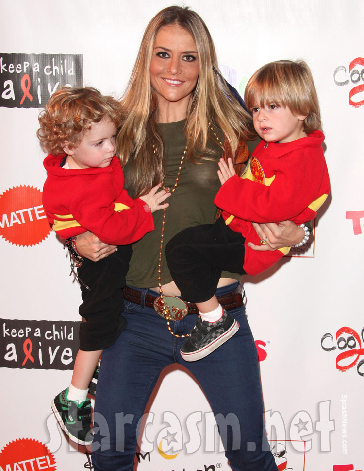 Brooke Mueller hit the red carpet Saturday night with her twin sons
