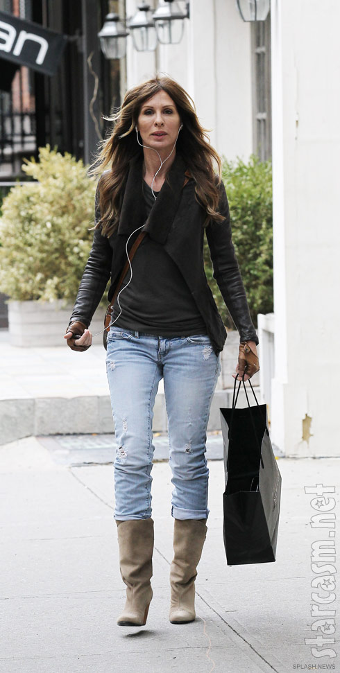 Carole Radziwill of The Real Housewives of New York City walking in Greenwich Village