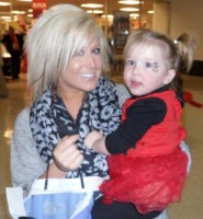 Teen Mom Chelsea Houska with daughter Aubree in a ladybug Halloween costume