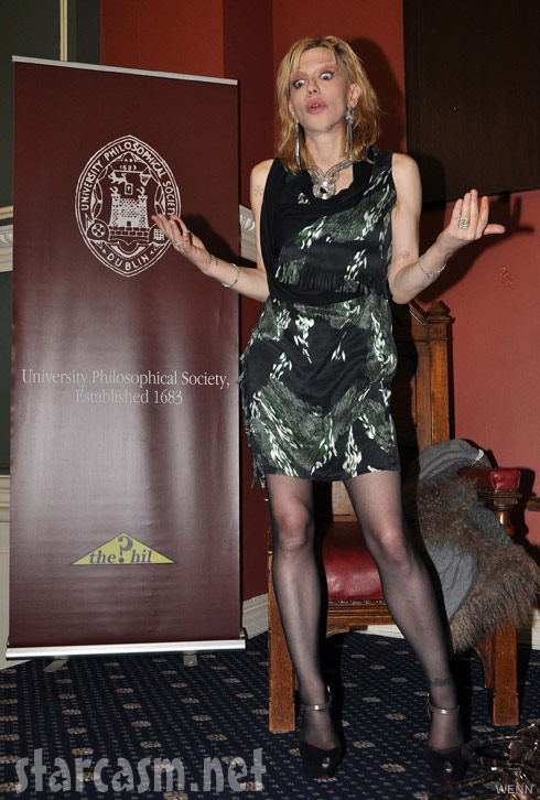 Courtney Love makes Ramona Singer googly eyes during Trinity College event