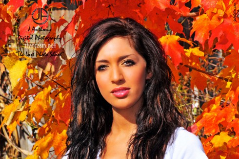 Farrah from Teen Mom poses for a modeling photo in 2009