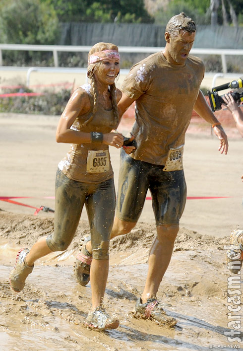 Gretchen Rossi and Slade Smiley at the 2011 Del Mar Mud Run