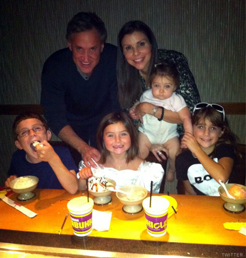 HEather Dubrow her husband Terry Dubrow and her four children Nicholas, Maximillia, Katarina, and Collette