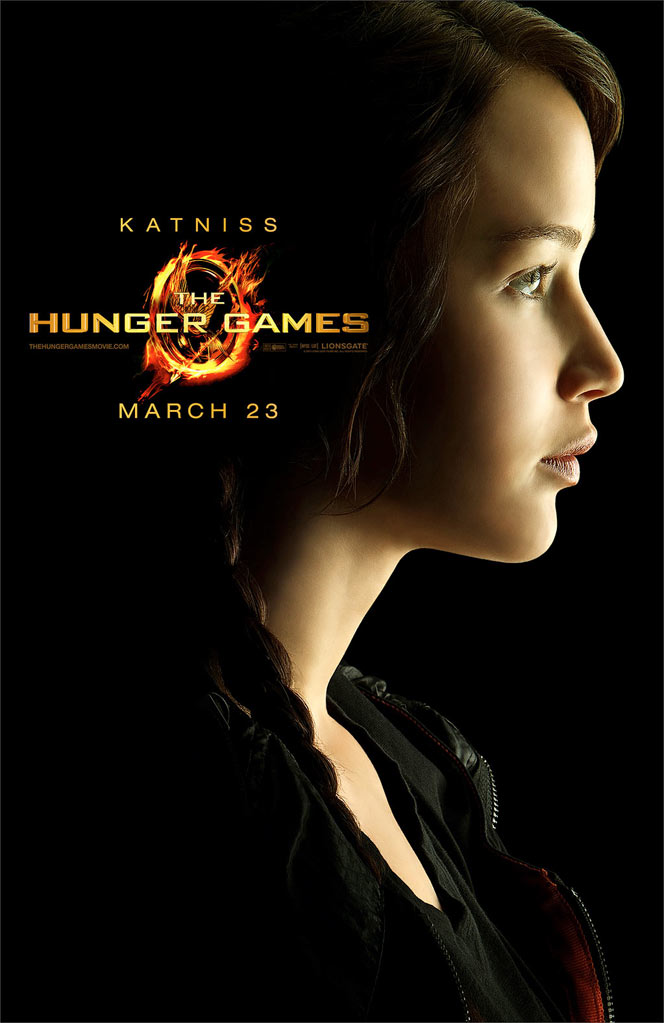 Character poster for katniss everdeen played by jennifer lawrence