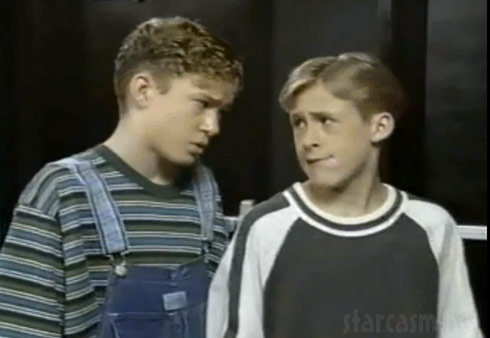 Justin Timberlake and Ryan Gosling as little boys on The Mickey Mouse Club