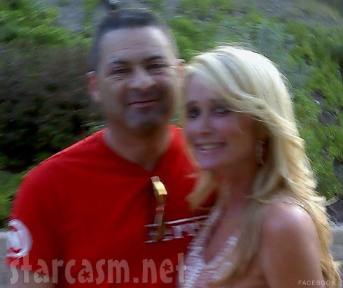 Kim Richards and her new boyfriend Ken Blumenfeld from his Facebook page