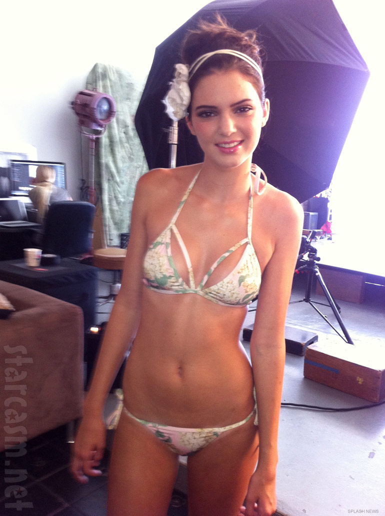 Kendall Jenner models a tiny bikini for White Sands swimwear