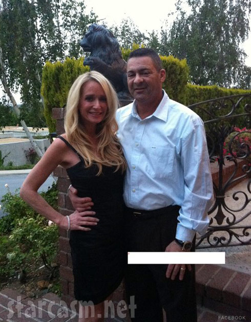 Kim Richards poses with boyfriend Ken Blumenfeld in a photo from his Facebook page
