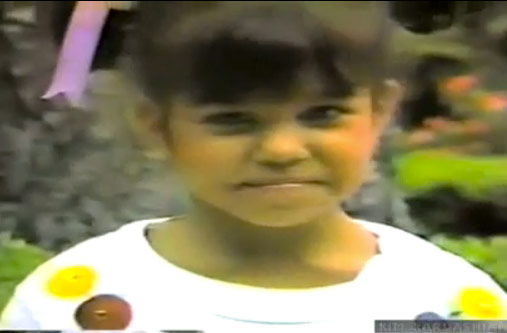 Kourtney Kardashian as a kid from a family video