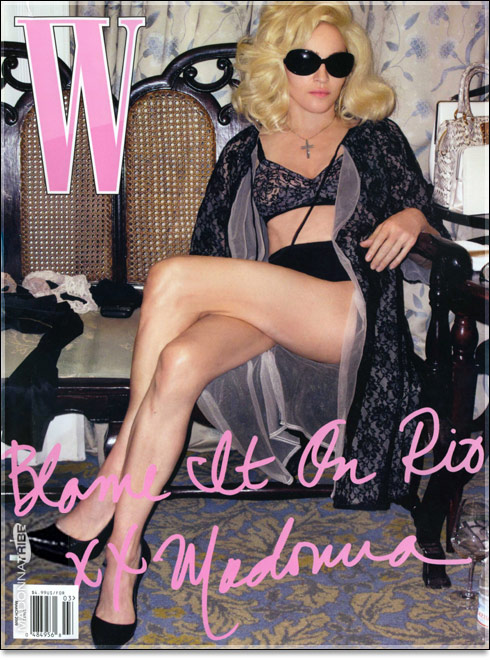 March 2009 W magazine cover with Madonna titled Blame It On Rio