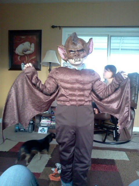 Catleynn Lowell&#039;s little brother Nick in a bat Halloween costume