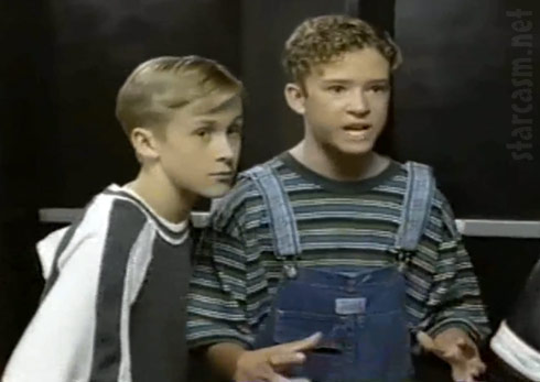 Ryan Gosling and Justin Timberlake on The Mickey Mouse Club photo