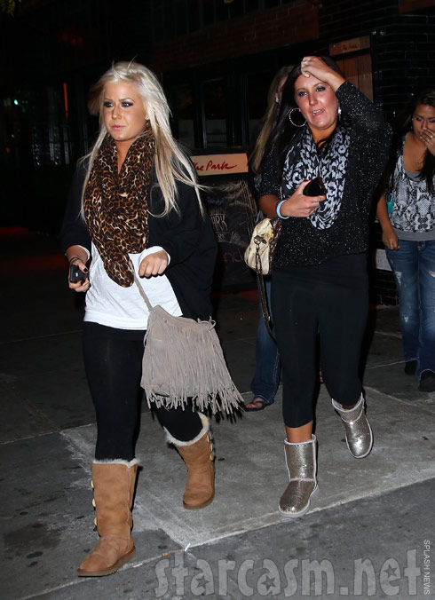 Chelsea Houska in New York City November 4, 2011 to film Teen Mom 2 after show clips