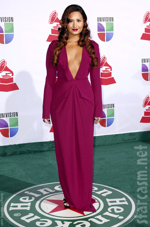 PHOTOS Demi Lovato bares her chest at Latin Grammy Awards