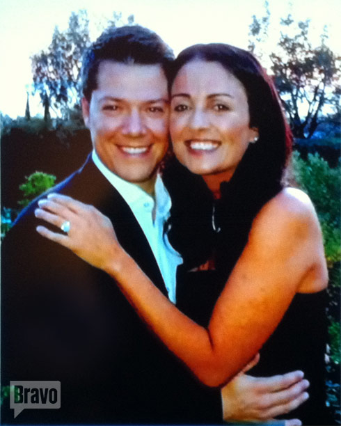 Jenni Pulos and her fiance Jonathan Nassos