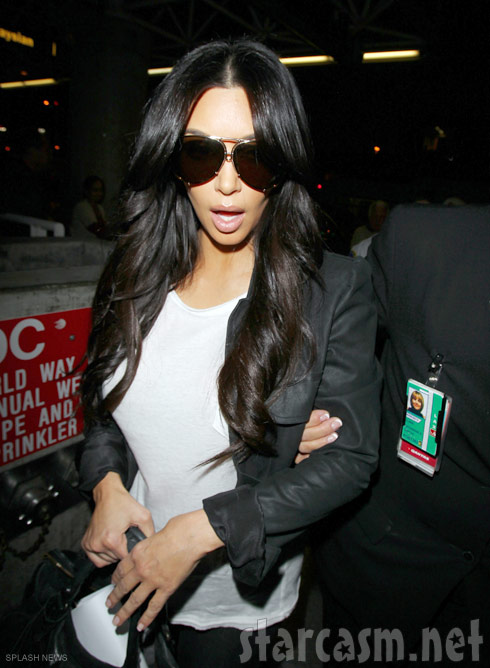Photo of Kim Kardashian after she filed for divorce from Kris Humphries October 31