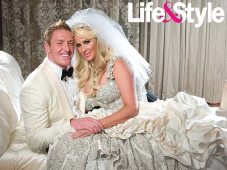 Kroy Biermann and Kim Zolciak wedding photo