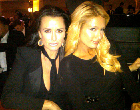 Kyle Richards and Paris Hilton at the 5th annual Rock the Kasbah charity event 2011
