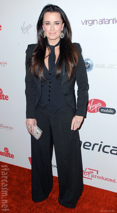 Kyle Richards on the red carpet at the 5th annual Rock the Kasbah charity event 2011