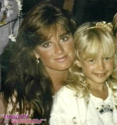 Kyle Richards and Paris Htilon photo from when Paris was a child