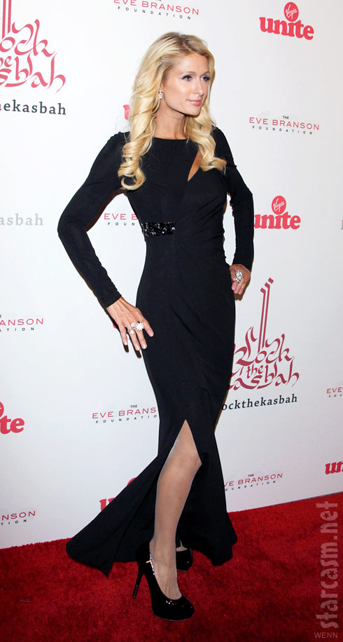 Paris Hilton on the red carpet at the 5th annual Rock the Kasbah charity event 2011