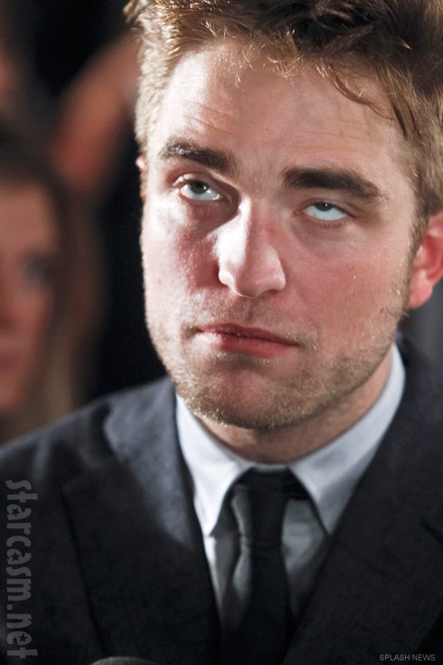 Robert Pattinson looking bored at the Breaking Dawn Part 1 premiere in Barcelona Spain
