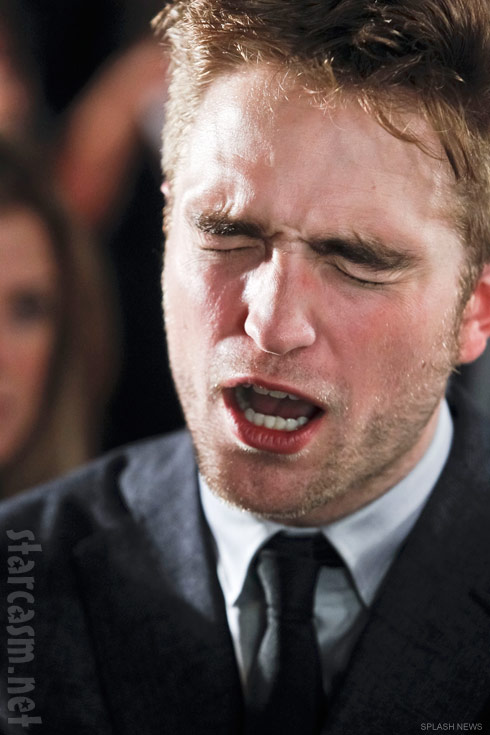 Robert Pattinson angry