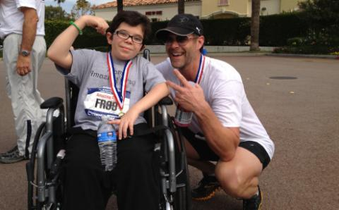 Slade Smiley and son Grayson at the Calabasas Classic 10K