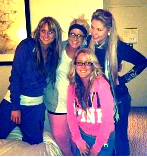 Leah MEsser Chelsea Houska Jenelle Evans and Kailyn Lowry have a New York City slumber party