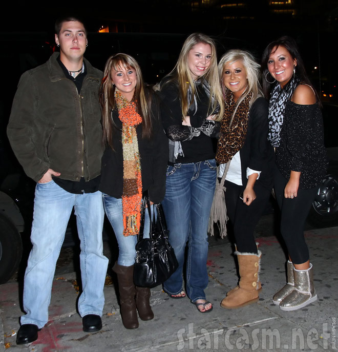 Leah Messer Kailyn Lowry Chelsea Houska in New York City