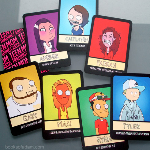 Teen Mom trading cards by Adam Ellis