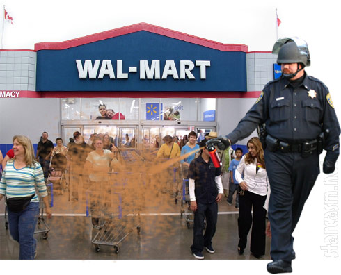Customer pepper sprays 20 at Los Angeles area Wal-Mart for Black Friday deals