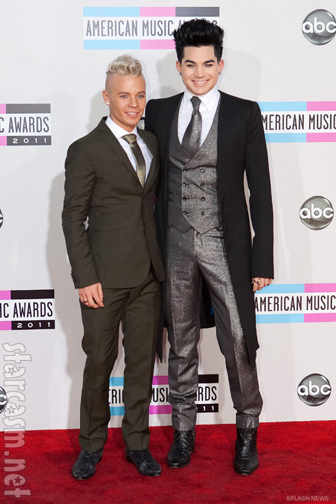 Adam Lambert with boyfriend Sauli Koskinen at the 2011 American Music Awards