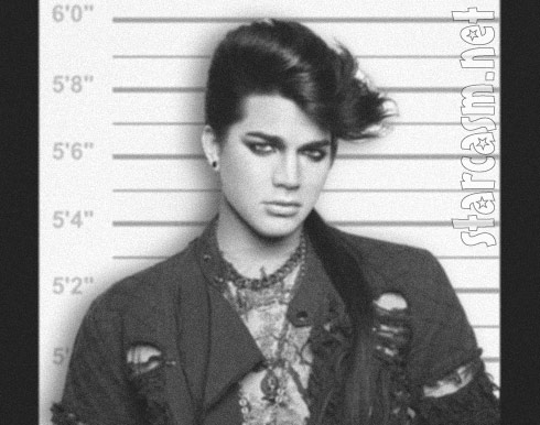 Adam Lambert arrested in Finland mug shot photo