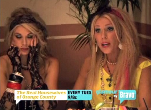 Alexis Bellino and Gretchen Rossi at The Real Housewives of orange County 1980s costume party