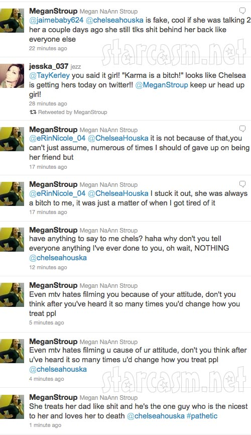 Megan Stroup's angry tweets towards Teen Mom 2 star Chelsea Houska part 7