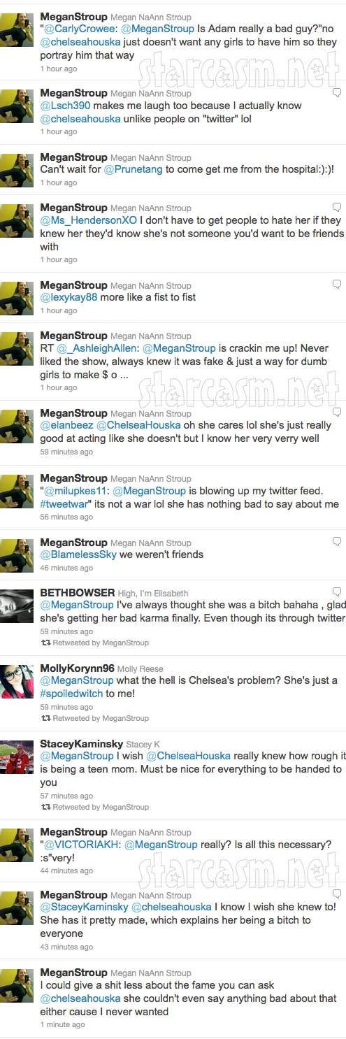 Megan Stroup's angry tweets towards Teen Mom 2 star Chelsea Houska part 8