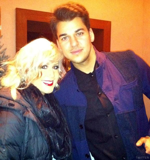 Rob Kardashian poses with Teen Mom 2 star Chelsea Houska in New York City