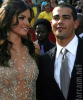 Actor Jesse Metcalfe and The Bachelor's Courtney Robertson at the 2005 EMMY Awards