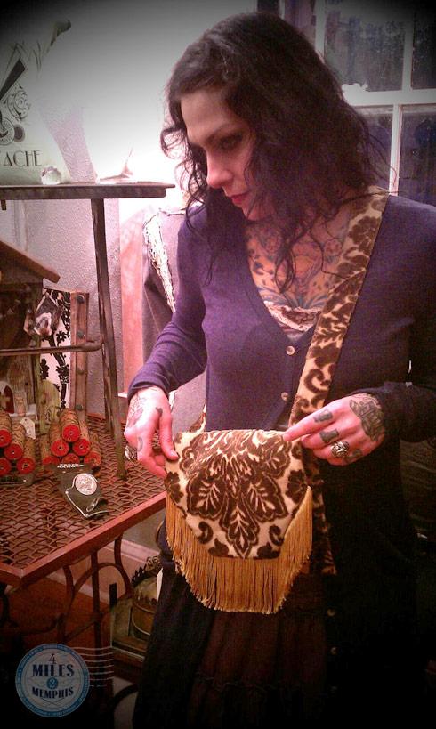 Danielle Colby Cushman handmade purse from 4 Miles 2 Memphis