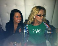 Jenelle Evans and roommate Hannah Inman at Rookie of the Year CD release party