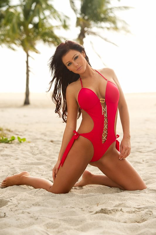 JWoww swimsuit modeling photo for Perfetc Tan Bikini