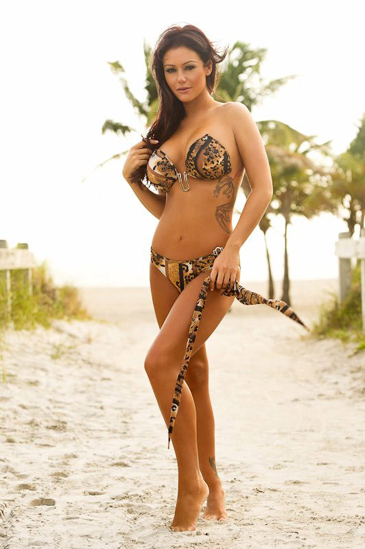 JWoww from Jersey Shore in a sexy snakeskin bikini by Perfect Tan Bikini