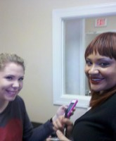 Kailyn Lowry has her makeup done by Monique Soto for Pasion apparel event