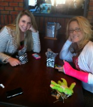 Kailyn and Jenelle get ready for their meet and greet autograph session at Kickback Jack&#039;s