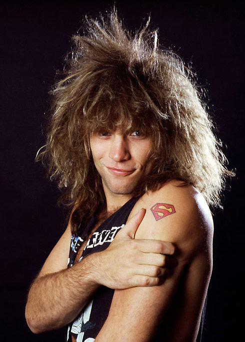 Jon Bon Jovi with big hair