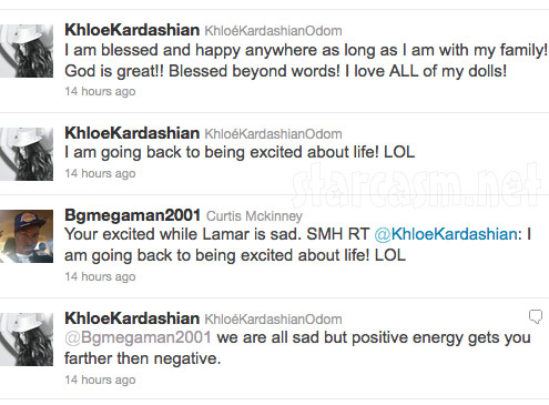 Khloe Kardashian tweets about husband Lamar Odom&#039;s trade to Dallas Mavericks