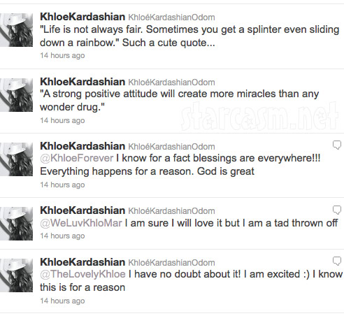 Khloe KArdashian tweets about Lamar Odom being traded to the Dallas Mavericks