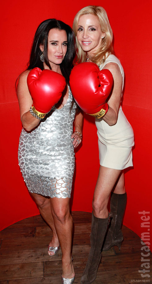 Kyle Richards and Camille Grammer Christmas party photo